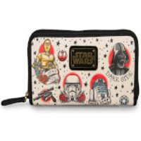 Loungefly Star Wars Tattoo Flash Print Faux Leather Wallet - Wallet Gifts