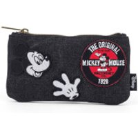 Loungefly Disney Mickey Mouse Patches Denim Pencil Case