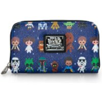 Loungefly Star Wars Chibi Character AOP Print Wallet - Wallet Gifts