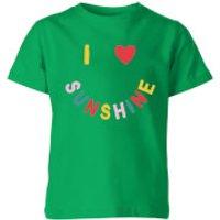 My Little Rascal I Love Sunshine Kids' T-Shirt - Kelly Green - 11-12 Years - Kelly Green - Love Gifts