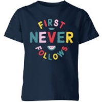 My Little Rascal First Never Follows Kids' T-Shirt - Navy - 11-12 Years - Navy - Navy Gifts