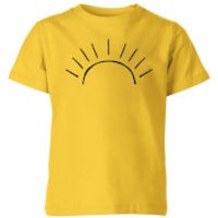 My Little Rascal Sun Linework Kids' T-Shirt - Yellow - 11-12 Years - Yellow - Sun Gifts