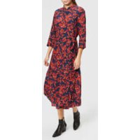 Gestuz Women's Raida Long Dress - Red Flower - EU 40/UK 12 - Multi