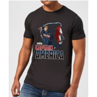 Avengers Captain America Men's T-Shirt - Black - XXL - Black