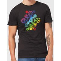 Avengers Rainbow Icon Men's T-Shirt - Black - M - Black
