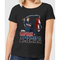 Avengers Captain America Women's T-Shirt - Black - XL - Black