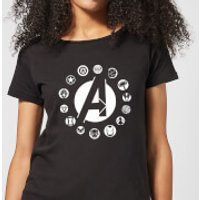 Avengers Team Logo Women's T-Shirt - Black - 4XL - Black