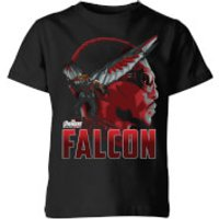 Avengers Falcon Kids' T-Shirt - Black - 11-12 Years - Black
