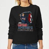 Avengers Captain America Women's Sweatshirt - Black - L - Black