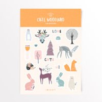 Cute Woodland Sticker Pack - Iwoot Gifts