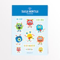 Skater Monster Sticker Pack - Iwoot Gifts