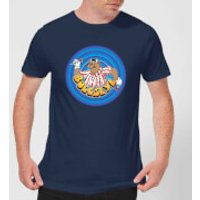 Bullseye Ring Logo Men's T-Shirt - Navy - XXL - Navy - Navy Gifts