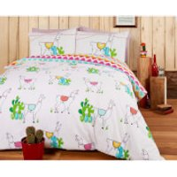 Happy Llamas Duvet Cover Set - Double - Multi