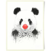 Red Nosed Panda Art Print - Red Gifts