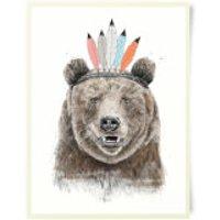 Native Bear Art Print - Bear Gifts