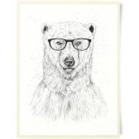 Polar Bear And Glasses Art Print - Bear Gifts