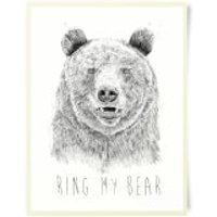 Ring My Bear Art Print - Bear Gifts