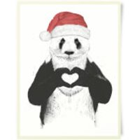 Santa Bear Art Print - Bear Gifts