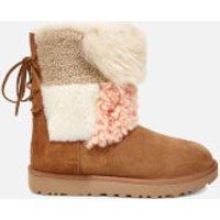 UGG Women's Classic Short Patchwork Fur Sheepskin Boots - Chestnut - UK 4.5 - Tan