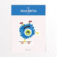 Skater Monster Skateboard Vinyl Decal - Skateboard Gifts