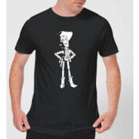 Toy Story Sheriff Woody Mens T-Shirt - Black - S - Black