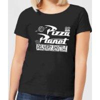 Toy Story Pizza Planet Logo Women's T-Shirt - Black - M - Black - Pizza Gifts