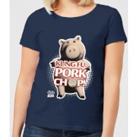 Toy Story Kung Fu Pork Chop Women's T-Shirt - Navy - L - Navy