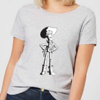 Toy Story Sheriff Woody Womens T-Shirt - Grey - XXL - Grey