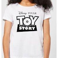 Toy Story Logo Outline Women's T-Shirt - White - XXL - White