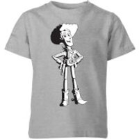 Toy Story Sheriff Woody Kids T-Shirt - Grey - 7-8 Years - Grey