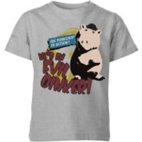 Toy Story Evil Oinker Kids' T-Shirt - Grey - 11-12 Years - Grey - Toy Gifts