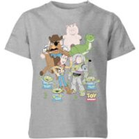 Toy Story Group Shot Kids' T-Shirt - Grey - 9-10 Years - Grey - Toy Gifts