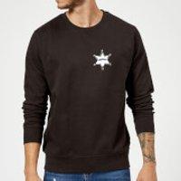 Toy Story Sheriff Woody Badge Sweatshirt - Black - M - Black