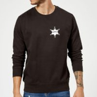 Toy Story Sheriff Woody Badge Sweatshirt - Black - L - Black
