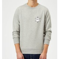 Toy Story Sheriff Woody Badge Sweatshirt - Grey - S - Grey