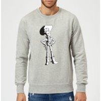 Toy Story Sheriff Woody Sweatshirt - Grey - S - Grey