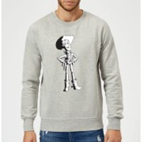 Toy Story Sheriff Woody Sweatshirt - Grey - S - Grey