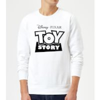 Toy Story Logo Outline Sweatshirt - White - S - White