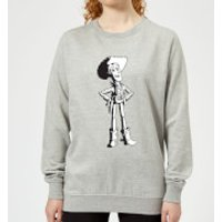 Toy Story Sheriff Woody Womens Sweatshirt - Grey - XL - Grey