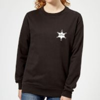 Toy Story Sheriff Woody Badge Womens Sweatshirt - Black - L - Black