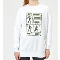 Toy Story Plastic Platoon Women's Sweatshirt - White - XS - White