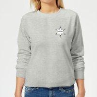 Toy Story Sheriff Woody Badge Womens Sweatshirt - Grey - XL - Grey