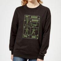 Toy Story Plastic Platoon Women's Sweatshirt - Black - 3XL - Black