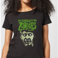 Hammer Horror Plague Of The Zombies Portrait Women's T-Shirt - Black - 5XL - Black - Zombies Gifts