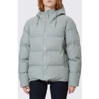 RAINS Womens Puffa Jacket - Stone - M-L - Grey