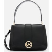MICHAEL MICHAEL KORS Womens Lillie Medium Flap Messenger Bag - Black