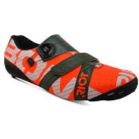 Bont Riot+ Road Shoes - EU 40.5 - Red/Green