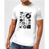 Florent Bodart Data Men's T-Shirt - White - XL - White