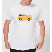 Florent Bodart Yellow Van Men's T-Shirt - White - 4XL - White