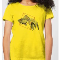 Florent Bodart Fish In Geometry Women's T-Shirt - Yellow - M - Yellow